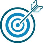 Bild zeigt Zielscheibe mit Pfeil für das Angebot eklusive Linkquellen