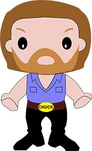Grafik mit Chuck Norris als Symbol für 404-Fehler