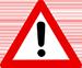 Verkehrsschild als Warnung vor falschen Backlinkeinsatz