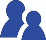 Zwei dargestellte Personen als Symbol für Kooperationen im Linkbuilding