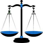 Waage als Symbol für Vorteile und Nachteile vom Backlinks kaufen