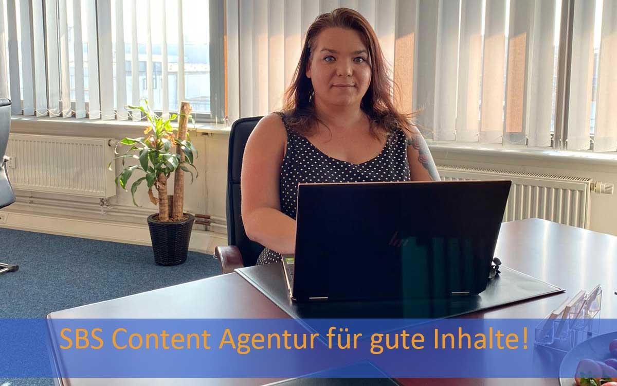 Bild mit Jasmin Lesemann aus der SBS Content-Agentur