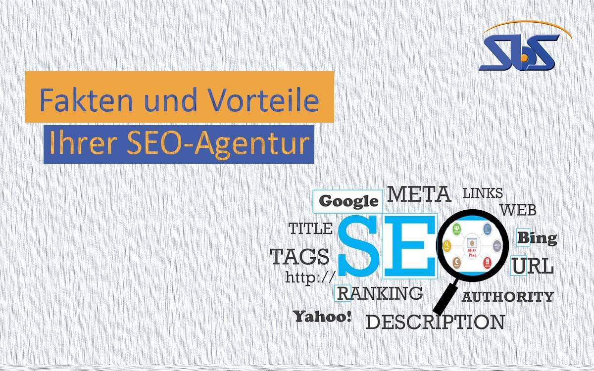 Grafik mit Text Faken und Vorteile SEO-Agentur