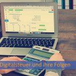 Bild mit einem Notebook und Auswertungen zur Digitalsteuer